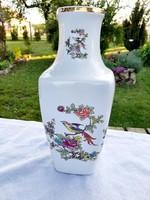 Hollóházi paradicsommadaras nagy váza