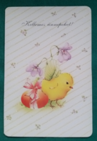 Aranyos,kiscsirkés,húsvéti kinyitható képeslap,postatiszta