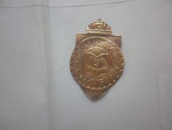 antik koronás jelvény kitűző debrecen református kollégium gimnáziuma
