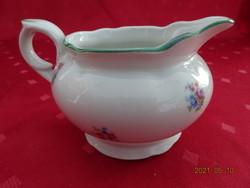 Eichwald német porcelán, antik, zöld szegélyes tejkiöntő.