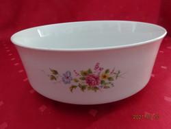 Alföldi porcelán, tavaszi virágmintás nagy köretes tál, átmérője 21,5 cm.