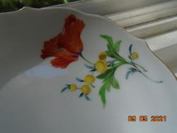 Kardos jelzéssel ,kézi számozással ,Meisseni kézzel festett virág mintás tálka