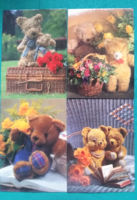 4 darab aranyos mackós,macis képeslap,postatiszta, Lizzy Card