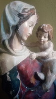Antik fa Mária szobor