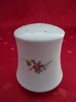Alföldi porcelán, tavaszi virágmintás sószóró, magassága 6,5 cm.