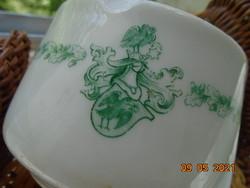 Antik nagyon ritka Zsolnay csésze hollós Mátyás Király címerrel