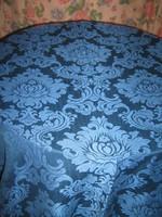 Gyönyörű barokk mintás kék színű minőségi szövet sötétítő függöny pár