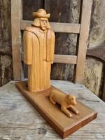 Faragó József faragott szobor (juhász)
