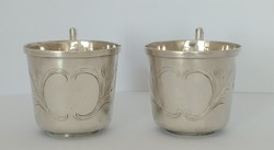 Ezüst puncsos pohár 2 darab