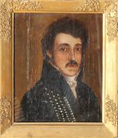 Magyar festő, 1810 körül: Nemesúr portréja