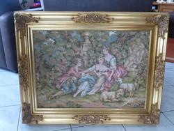 Barokk gobelin blondel kerettel Goblein