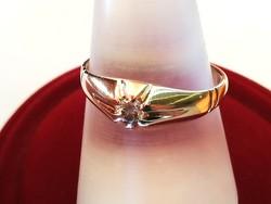 Brilles orosz arany gyűrű (14k)