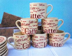 Porcelán kávés készlet, 12 db-os Caffé latte eredeti dobozában