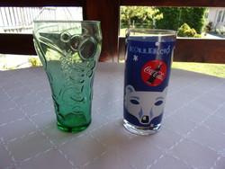 2 db.régebbi Coca Colás pohár darabra