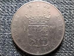 Svédország VI. Gusztáv Adolf (1950-1973) 1 Korona 1969 U (id44259)