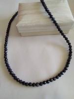 Zafír fazettált nyaklánc