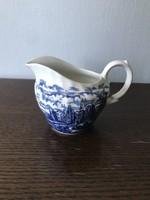 Angol kék mintás porcelán kiöntő tejszín tej kiöntő Irostone