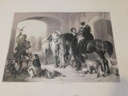 A. H. Payne: Visszatérés a sólyomvadászatról vadász - metszet