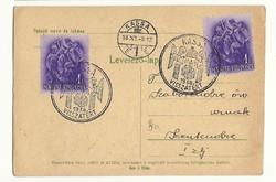 1938 Kassa visszatér üdvözló lap Szentendrére Felvidék felszabadulása 1. zászlóalj Szentendre futott