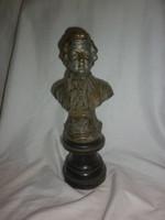 Antik spiáter ötvözet mozart  szobor büszt 28cm