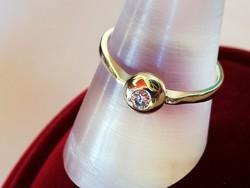 Brilles button arany gyűrű (14k)