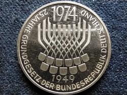 Nagyon szép ezüst Grungesetzt emlék 5 márka 1974 F PP (id3157)