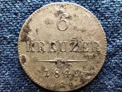 Ausztria Ferenc József .438 ezüst 6 Krajcár 1849 A (id49414)