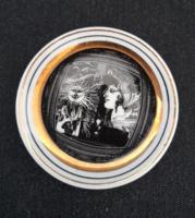 Hollóházi Szász Endre porcelán mini tányér
