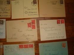 43 darab 1945 utáni német boriték levél megszállás szövetségesés szovjet zóna orosz Berlin bélyeg