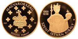 Szent István 500000 Ft arany érme!