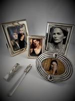Ezüst fotókeretek kiegészítőkkel 925-ös