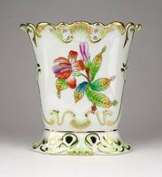 1E306 Régi Viktória mintás barokkos Herendi porcelán váza 12 cm