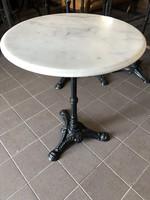 Márványlapos vasasztal, kerti asztal
