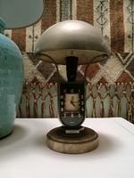 Mofém asztali lámpa óra