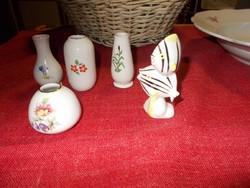 Hollóházi miniatűr porcelán egyveleg