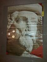 Gótikus szobrok kiállítás plakát, méret jelezve!