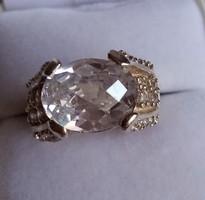 Ezüst gyűrű  óriás cirkónia kővel