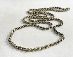 Csavart ezüst nyaklánc -70cm