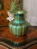 Zsolnay ragyogó eozin nagyméretű váza!