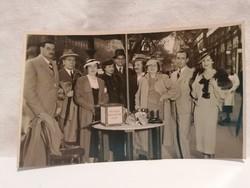 1936 Országos Gyermekvédő Liga csoportkép fotó képeslap