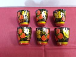 Festett orosz poharak