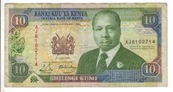10 shilingi 1990 Kenya