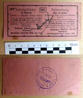 Daubner József gyógyszerész Homokszil 10 fillér 1915. ritka szükségpénz aláírással