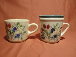 Gyógynövényes bögrék, csészék
