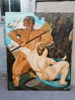 Olaj-vászon festmény , mitológiai jelenet