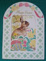 Különleges ,kinyithatós,húsvéti képeslap
