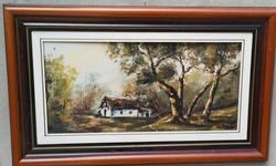 Elhagyott tanya ( olaj festfmény )