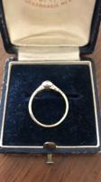 Régi 14 karátos arany gyűrű,régi csiszolású brilliánssal!