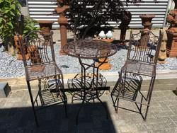 Kerti bár szett - (1 db asztal + 2 db szék)
