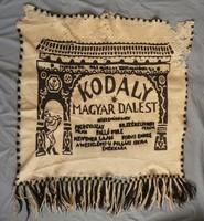 Nemezelt halina falvédő székelykapu kodály népdal magyar dalest műsor plakát 1927 zeneakadémia